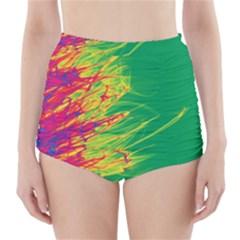 Fire High-Waisted Bikini Bottoms