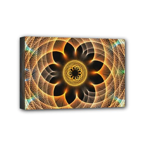 Mixed Chaos Flower Colorful Fractal Mini Canvas 6  x 4