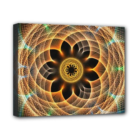 Mixed Chaos Flower Colorful Fractal Canvas 10  x 8