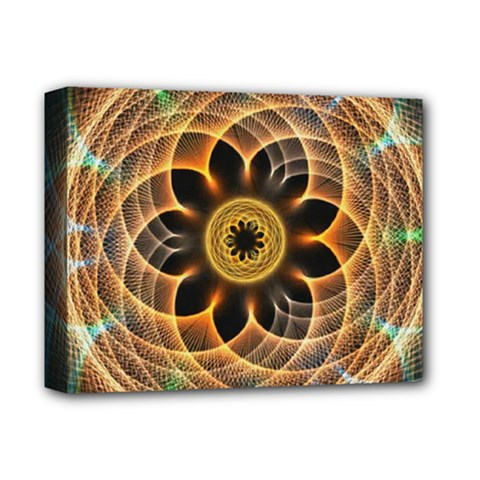 Mixed Chaos Flower Colorful Fractal Deluxe Canvas 14  x 11