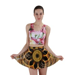 Mixed Chaos Flower Colorful Fractal Mini Skirt