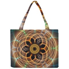 Mixed Chaos Flower Colorful Fractal Mini Tote Bag