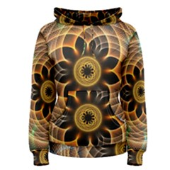 Mixed Chaos Flower Colorful Fractal Women s Pullover Hoodie