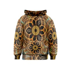 Mixed Chaos Flower Colorful Fractal Kids  Zipper Hoodie
