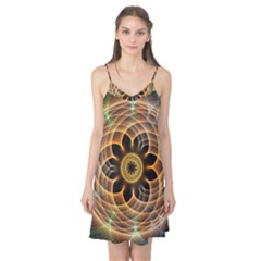 Mixed Chaos Flower Colorful Fractal Camis Nightgown
