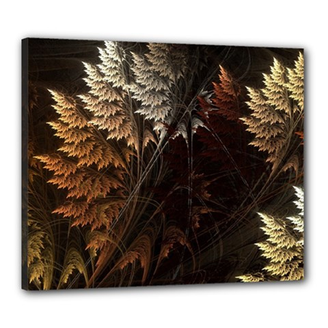 Fractalius Abstract Forests Fractal Fractals Canvas 24  x 20