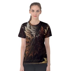 Fractalius Abstract Forests Fractal Fractals Women s Cotton Tee