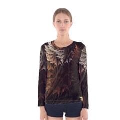 Fractalius Abstract Forests Fractal Fractals Women s Long Sleeve Tee
