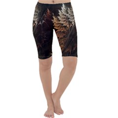 Fractalius Abstract Forests Fractal Fractals Cropped Leggings