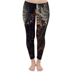 Fractalius Abstract Forests Fractal Fractals Classic Winter Leggings