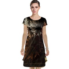 Fractalius Abstract Forests Fractal Fractals Cap Sleeve Nightdress
