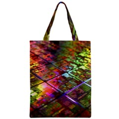 Technology Circuit Computer Zipper Classic Tote Bag