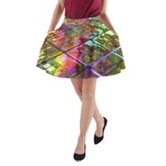 Technology Circuit Computer A-Line Pocket Skirt