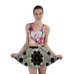 Wood In The Soft Fire Galaxy Pop Art Mini Skirt