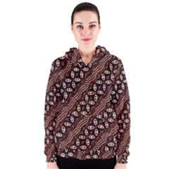 Art Traditional Batik Pattern Women s Zipper Hoodie