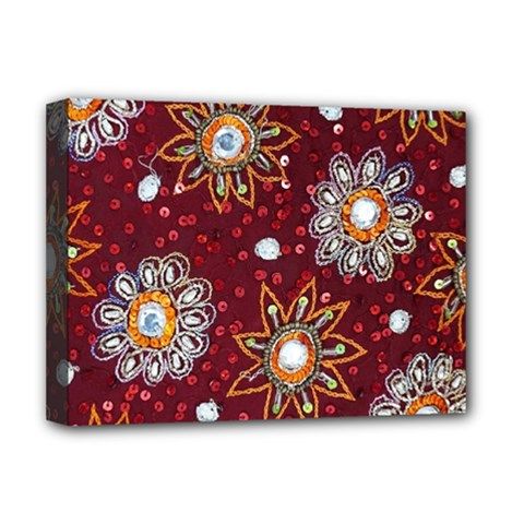 India Traditional Fabric Deluxe Canvas 16  x 12