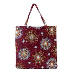 India Traditional Fabric Grocery Tote Bag