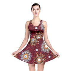 India Traditional Fabric Reversible Skater Dress