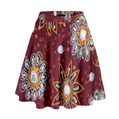 India Traditional Fabric High Waist Skirt