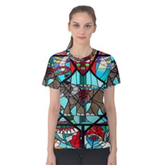 Elephant Stained Glass Women s Cotton Tee