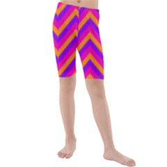 Chevron Kids  Mid Length Swim Shorts