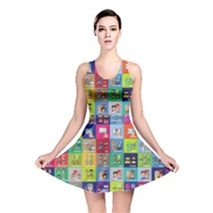 Exquisite Icons Collection Vector Reversible Skater Dress
