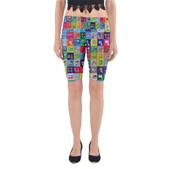 Exquisite Icons Collection Vector Yoga Cropped Leggings