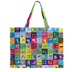 Exquisite Icons Collection Vector Large Tote Bag