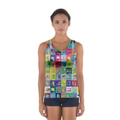 Exquisite Icons Collection Vector Women s Sport Tank Top