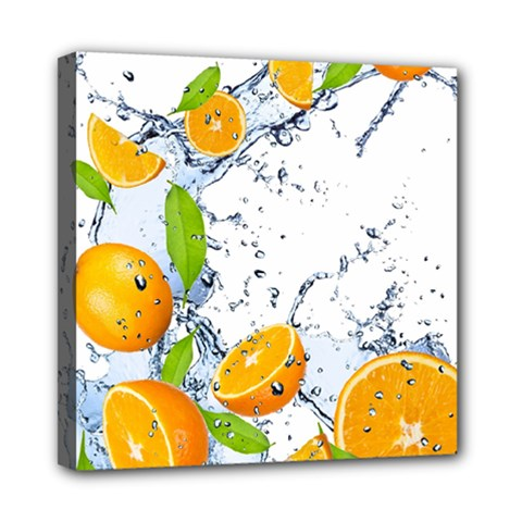 Fruits Water Vegetables Food Mini Canvas 8  x 8