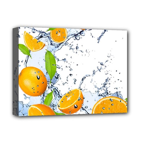 Fruits Water Vegetables Food Deluxe Canvas 16  x 12