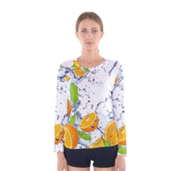 Fruits Water Vegetables Food Women s Long Sleeve Tee