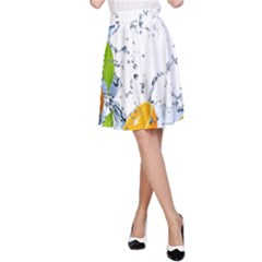 Fruits Water Vegetables Food A-Line Skirt