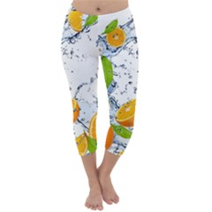 Fruits Water Vegetables Food Capri Winter Leggings
