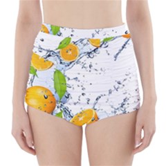 Fruits Water Vegetables Food High-Waisted Bikini Bottoms