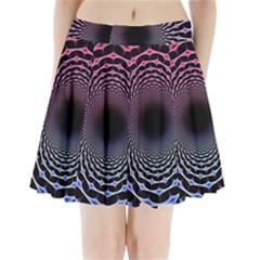 Spider Web Pleated Mini Skirt