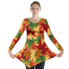 Autumn Leaves Long Sleeve Tunic