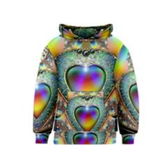 Rainbow Fractal Kids  Pullover Hoodie