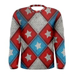 Star Color Men s Long Sleeve Tee