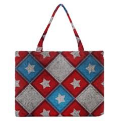 Star Color Medium Zipper Tote Bag