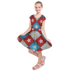 Star Color Kids  Short Sleeve Dress