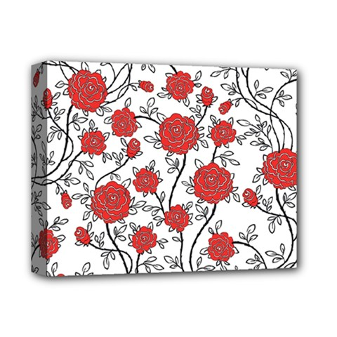 Texture Roses Flowers Deluxe Canvas 14  x 11