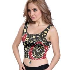 Art Batik Pattern Crop Top
