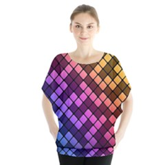 Abstract Small Block Pattern Blouse