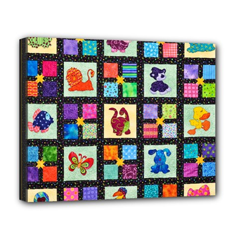 Animal Party Pattern Deluxe Canvas 20  x 16