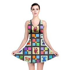 Animal Party Pattern Reversible Skater Dress
