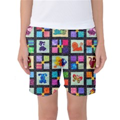 Animal Party Pattern Women s Basketball Shorts