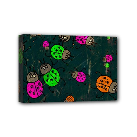 Abstract Bug Insect Pattern Mini Canvas 6  x 4