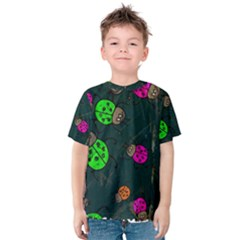 Abstract Bug Insect Pattern Kids  Cotton Tee