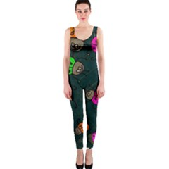 Abstract Bug Insect Pattern OnePiece Catsuit